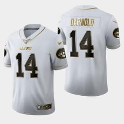 Jets Sam Darnold 100 Saison Golden Edition Jersey - Blanc