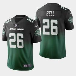 New York Jets 26 hommes Le'Veon Bell Couleur accident dégradé maillot vert