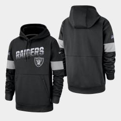 Las Vegas Raiders 100e saison Sideline équipe masculine Logo Sweat à capuche - Noir