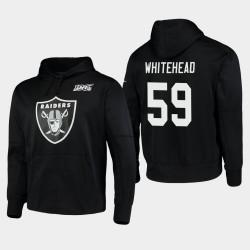 Las Vegas Raiders hommes 59 Tahir Whitehead 100ème Saison Logo primaire Sweat à capuche - Noir