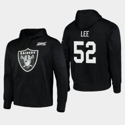 Las Vegas Raiders hommes 52 Marquel Lee 100ème Saison Logo primaire Sweat à capuche - Noir