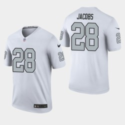 Las Vegas Raiders hommes 28 Josh Jacobs 2019 NFL Draft couleur Rush Legend Jersey - Blanc