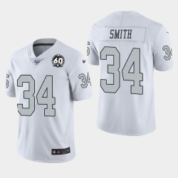 Las Vegas hommes Raiders 34 Rod Smith 60e anniversaire couleur Rush Jersey - Blanc