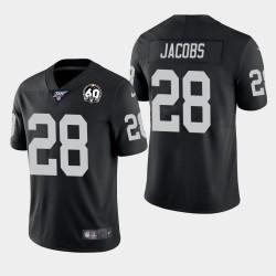Raiders Josh Jacobs 60e anniversaire de vapeur Limited Jersey - Noir