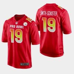 Steelers de Pittsburgh hommes 19 JuJu Smith-Schuster 2019 Pro Bowl AFC Jeu Jersey - Rouge
