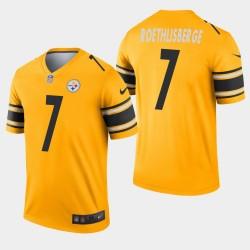 Steelers de Pittsburgh hommes 7 Ben Roethlisberger Inverted Legend Jersey - Or
