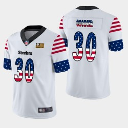 Steelers de Pittsburgh hommes 30 jours James Conner Independence Americana Stars & Stripes Jersey - Blanc