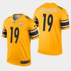 Steelers de Pittsburgh hommes 19 JuJu Smith-Schuster Inverted Legend Jersey - Or