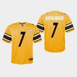 Pittsburgh Steelers 7 jeunes Ben Roethlisberger Inversé Jeu Jersey - Or