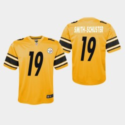 Jeunesse Pittsburgh Steelers 19 JuJu Smith-Schuster Inversé Jeu Jersey - Or
