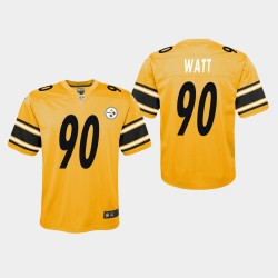 Steelers T.J. Watt Inversé Jeu Jersey - Or
