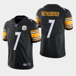Steelers de Pittsburgh hommes 7 Ben Roethlisberger 100ème saison de vapeur Limited Jersey - Noir