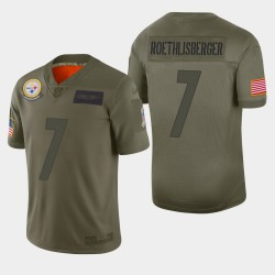 Pittsburgh Steelers Hommes 7 Ben Roethlisberger 2019 Salut au service Camo Jersey limitée