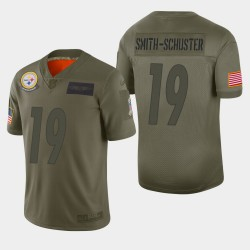 Pittsburgh Steelers hommes 19 JuJu Smith-Schuster 2019 Salut au service Camo Jersey limitée