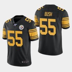 Steelers de Pittsburgh hommes 55 Devin Bush 100ème saison couleur Rush Jersey - Noir