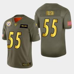 Steelers de Pittsburgh hommes 55 Devin Bush 2019 Salut au service métallique NFL 100 Jersey