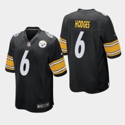 Pittsburgh Steelers hommes 6 Devlin Hodges Jeu Jersey - Noir