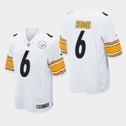 Pittsburgh Steelers hommes 6 Devlin Hodges Jeu Jersey - Blanc