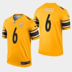 Steelers de Pittsburgh 6 hommes Devlin Hodges Inversé Jeu Jersey - Or