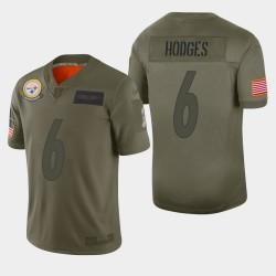 Steelers de Pittsburgh 6 hommes Devlin Hodges 2019 Salut au service Camo Jersey limitée