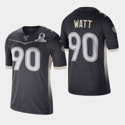Steelers de Pittsburgh Hommes 90 T.J. Watt 2020 AFC Pro Bowl Jersey Jeu - Anthracite
