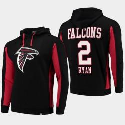 Fanatiques Branded Hommes Atlanta Falcons 2 Matt Ryan équipe Iconic Sweat à capuche - Noir
