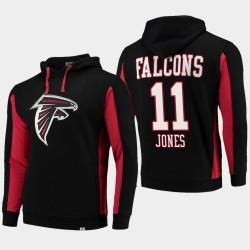 Fanatiques Branded Hommes Atlanta Falcons 11 Julio Jones équipe Iconic Sweat à capuche - Noir