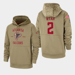 Matt Ryan Atlanta Falcons Hommes 2019 Salut au service Sideline Therma Sweat à capuche - Tan