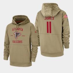 Julio Jones hommes d'Atlanta Falcons 2019 Salut au service Sideline Therma Sweat à capuche - Tan