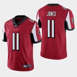 Hommes Atlanta Falcons 11 Julio Jones 100ème saison de vapeur Limited Jersey - Rouge