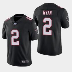 100 e saison classique limitée Atlanta Falcons 2 hommes Matt Ryan Jersey - Noir