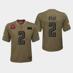 Atlanta Falcons 2 jeunes Matt Ryan 2019 Salut au service Jersey - Camo