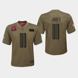 Jeunesse Atlanta Falcons 11 Julio Jones 2019 Salut au service Jersey - Camo