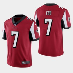 Atlanta Falcons Hommes 7 Younghoe Koo 100e saison de vapeur Limited Jersey - Rouge