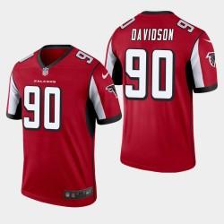 Atlanta Falcons 90 Marlon Davidson Jersey NFL Draft hommes - Rouge