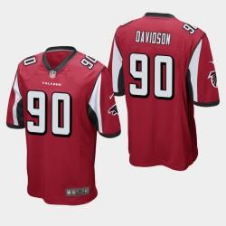 NFL Draft Atlanta Falcons 90 Marlon Davidson Jersey Hommes - Rouge