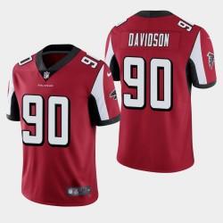 NFL Draft Atlanta Falcons 90 Marlon Davidson Vapor Limited Jersey Hommes - Rouge