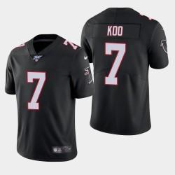 Atlanta Falcons Hommes 7 Younghoe Koo 100e saison de vapeur Limited Jersey - Noir