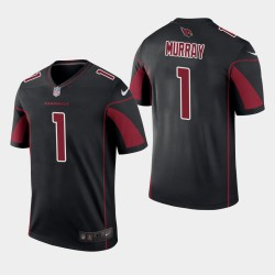 Cardinals de l'Arizona Hommes 1 Kyler Murray 2019 NFL Draft couleur Rush Legend Jersey - Noir