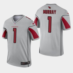Men Cardinals de l'Arizona 1 Kyler Murray Inverted Legend Jersey - Argent