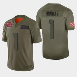 Arizona Cardinals hommes 1 Kyler Murray 2019 Salut au service Camo Jersey limitée