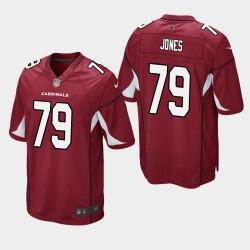 Arizona Cardinals 79 Josh Jones Jersey Draft NFL hommes - Rouge