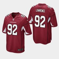 NFL Draft Arizona Cardinals 92 Rashard Lawrence jeu Jersey hommes - Rouge