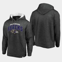 Baltimore Ravens hommes Steady Fleece Sweat à capuche - Gris Blanc