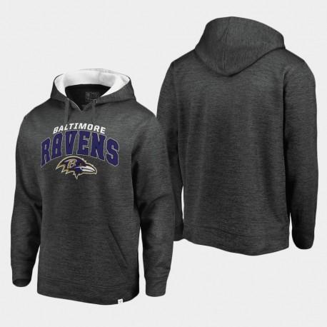 Baltimore Ravens hommes Steady Fleece Sweat à capuche - Gris Blanc