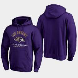 Baltimore Ravens Futbol Americano Sweat à capuche pour homme - Violet