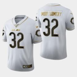 Bears hommes Chicago 32 David Montgomery 100ème Saison Golden Edition Jersey - Blanc