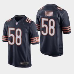 Bears hommes Chicago 58 Robert Quinn jeu Jersey - Navy