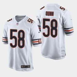 Bears hommes Chicago 58 Robert Quinn Jeu Jersey - Blanc