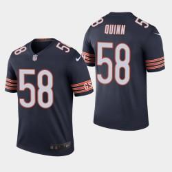 Bears hommes Chicago 58 Robert Quinn couleur Rush Legend Jersey - Marine